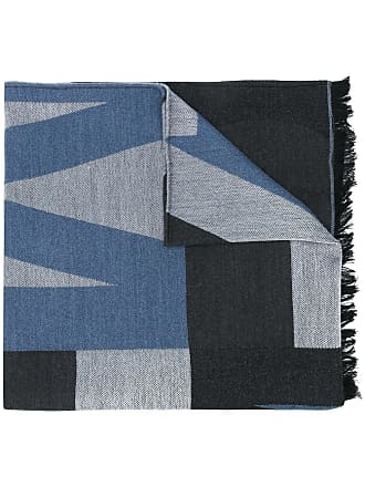 Jimmy Choo London Cachecol color block Jude - Azul