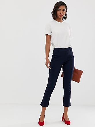 Y.A.S pants with side zip detail in navy - Navy