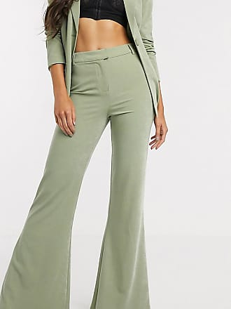 4th + Reckless Tall exclusive kick flare trouser in sage green-Grey