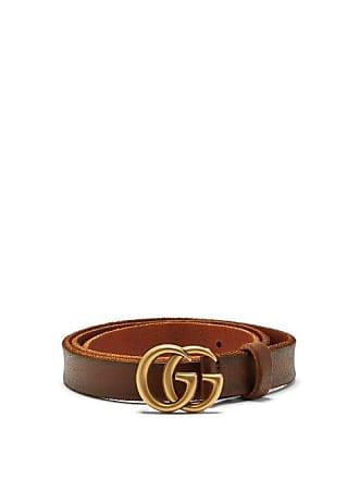 cdb3632fc Gucci Gg Logo 2cm Leather Belt - Womens - Tan