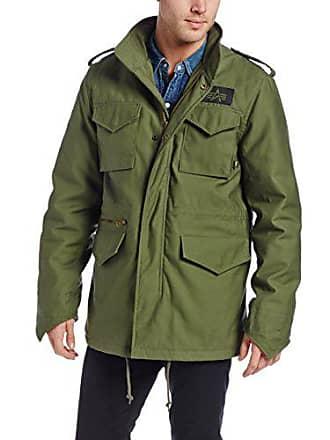 Alpha Industries Mens Tall Size M-65 Field Coat, Olive Green, MT