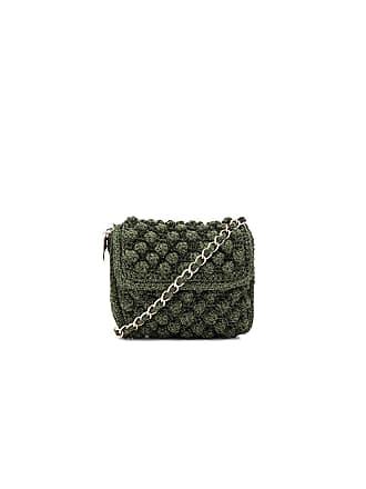 M Missoni Textured Crossbody Bag In Olive