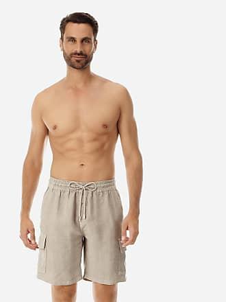 Vilebrequin Men Ready to Wear - Men Cargo Linen Bermuda Shorts Solid - BERMUDA - BAIE - Beige - XXXL - Vilebrequin