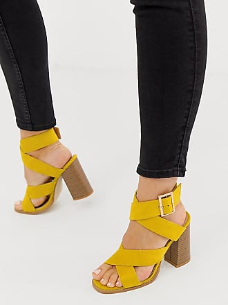 b54190d557e Raid RAID Wide Fit Abree bright yellow stacked heel sandals