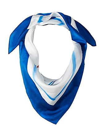 Ralph Lauren Alice Silk Square Scarf (Blue Reef) Scarves