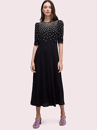 Kate Spade New York Crystal Bodice Dress, Black - Size 0