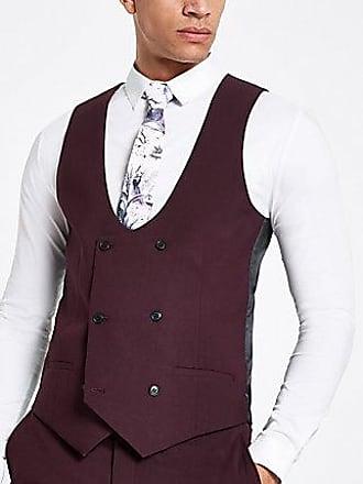 River Island Mens Purple stretch fit suit vest