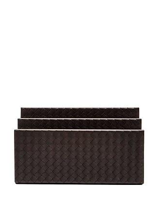 Bottega Veneta Intrecciato-leather Letter Holder - Dark Brown