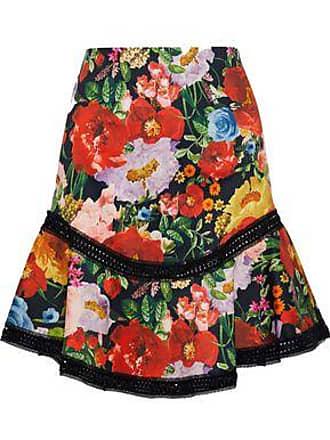04c66fc5db1f5a Alice & Olivia Alice + Olivia Woman Eriko Lace-trimmed Floral-print Cotton-