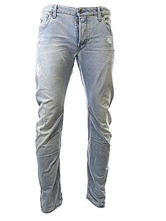 G-Star Mens Arc 3D Slim Fit Jean In Wisk Denim Light Aged Destroy, Light Aged Destroy, 31x32