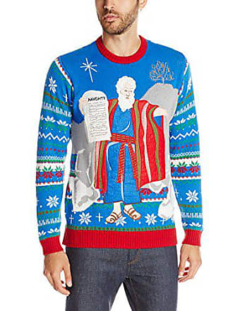 Blizzard Bay Mens The Naughty Tablet Ugly Christmas Sweater, blue, Small