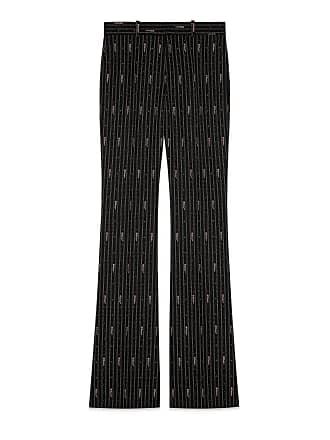 8c23d884f28d Gucci Pantalon en laine avec rayures Gucci en fil coupé