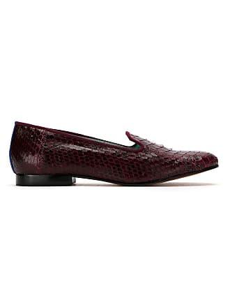 Blue Bird Shoes Loafer Exótico de couro python - Vermelho