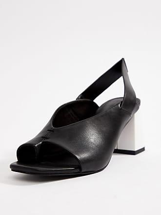09e4771f8e2a Asos Howdy toe loop mis-match block heeled sandals - Black