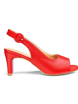 d25416dba77 JD Williams Square Heel Peep Toe Slingback Shoes