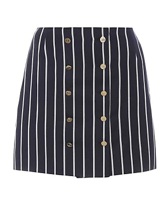 Thom Browne Striped wool and cotton miniskirt
