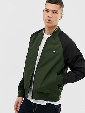 096fb21ef Lacoste reversible bomber jacket in navy green