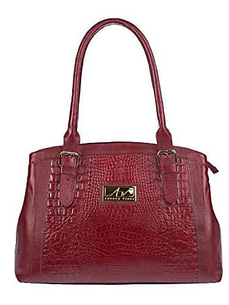 Andrea Vinci Bolsa Tradicional em couro legítimo vermelha