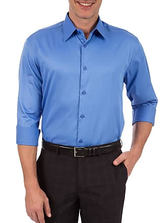 Colombo Camisa Social Masculina Azul Lisa 44079 Colombo