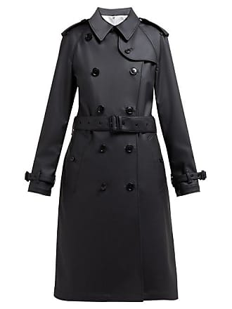 Burberry Curradine Double Breasted Coated Trench Coat - Womens - Black