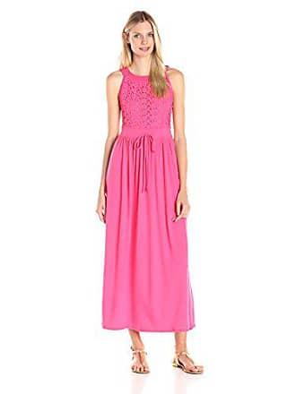 930d4243aac Allison Brittney Womens Round Neck Crochet Front Maxi Dress