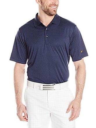 b1c98abaa Jack Nicklaus Mens Golf Performance The Hills Large Scale Stripe Short  Sleeve Polo Shirt