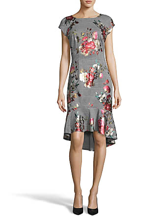 5twelve Cap-Sleeve Floral-Jersey High-Low Dress