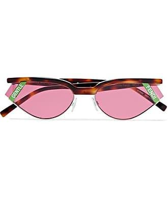 9a7d6b71c Fendi Gentle Fendi Cat-eye Tortoisehell Acetate And Silver-tone Sunglasses  - Pink