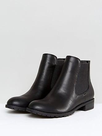 460f8d20db75 London Rebel Chelsea Boot On Tread Sole - Black