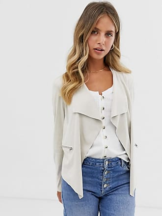 Pimkie suedette fall away jacket in off white