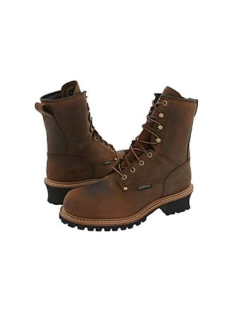 e58025d1b71 Carolina Isulated Elm Waterproof Plain Toe Logger CA4821 (Copper  Crazyhorse) Mens Work Boots