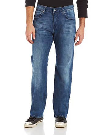 7 For All Mankind Mens Austyn Relaxed Straight Luxe Performance Jean, Nakkitta Blue, 34x33.5