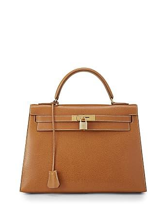 Hermès Kelly 28 Peau Porc Satchel Bag, Brown