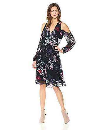 Yumi Kim Womens Dashing Wrap Dress, Misty Bouquet Black, L