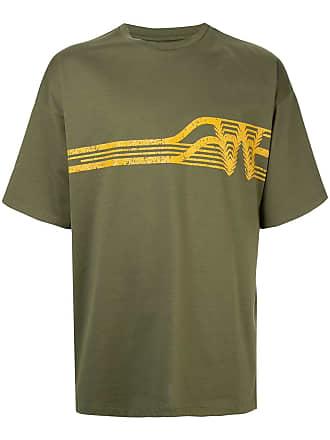 Wooyoungmi Camiseta com estampa gráfica - Verde
