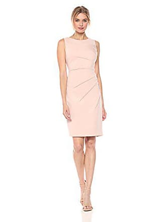cab545a7289 Calvin Klein Womens Sleeveless Scuba Starburst Sheath Dress