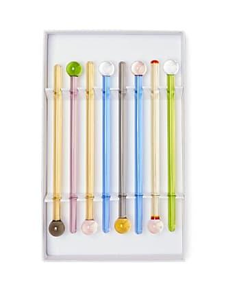 Yali Glass Set Of Eight Glass Drink Stirrers - Multi