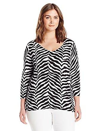 Caribbean Joe Womens Petite Three Quarter Sleeve Sweater, Black, PS