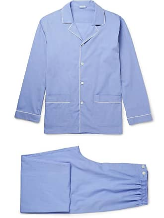 dafe8a93 Zimmerli Mercerised Cotton Pyjama Set - Blue