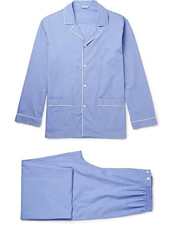 Zimmerli Mercerised Cotton Pyjama Set - Blue