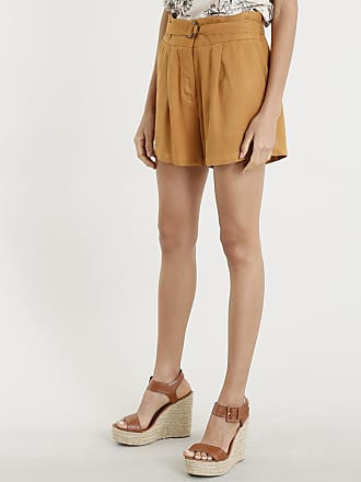 a1421bd18 C A Short Feminino Cintura Alta com Cinto Caramelo