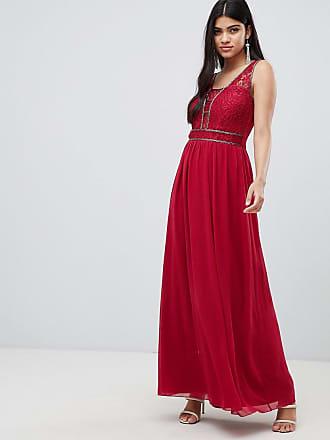 Little Mistress Vestito lungo lampone con decorazione in vita - Rosso 85bfc2f2ccb