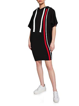 Junie Striped Dolman-Sleeve Hoodie Dress
