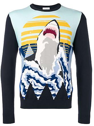 Ballantyne Suéter com estampa de tubarão - Azul