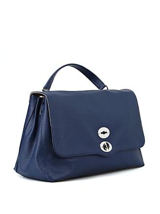 Zanellato Postina L Curturo blue leather bag 0c657c3faa696