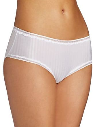 Warner's Womens Secret Makeover Striped Hipster Panty, White, Small
