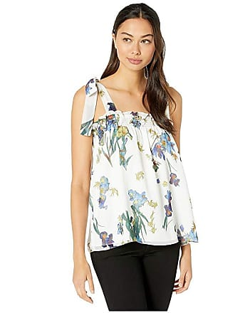 54ba32ac6078f6 CeCe by Cynthia Steffe Sleeveless Watercolor Floral Top w/ Shoulder Ties  (Soft Ecru)