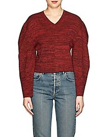 Stella McCartney Womens Mélange Cotton Crop Sweater - Red Navy Size 36 IT 7b8a2bb31