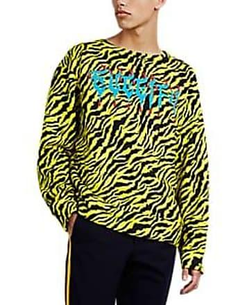 a664f8b7cef Gucci Mens Guccify Tiger-Striped Cotton Terry Sweatshirt - Yellow Size L