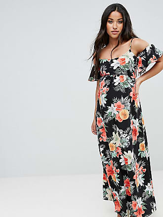 Queen Bee Maternity Floral Cold Shoulder Maxi Dress - Multi